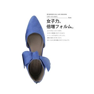 靴 リボン パンプス ペタンコ 大人 デザインリボンパンプス・3月25日20時〜再再販。メール便不可|antiqua|09