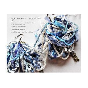 無数の毛糸やリボンと組み合わせて。デザインピアス・(10)メール便可|antiqua