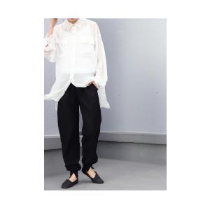 パンツ ボトムス シンプル ベーシック 裾リブスリットパンツ・6月30日0時〜再再販。100ptメール便可|antiqua|13