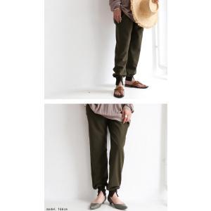 パンツ ボトムス シンプル ベーシック 裾リブスリットパンツ・6月30日0時〜再再販。100ptメール便可|antiqua|05