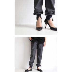 パンツ ボトムス シンプル ベーシック 裾リブスリットパンツ・6月30日0時〜再再販。100ptメール便可|antiqua|07