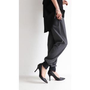 パンツ ボトムス シンプル ベーシック 裾リブスリットパンツ・6月30日0時〜再再販。100ptメール便可|antiqua|08