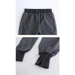 パンツ ボトムス シンプル ベーシック 裾リブスリットパンツ・6月30日0時〜再再販。100ptメール便可|antiqua|10