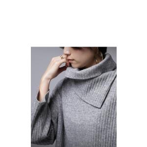 softな着心地が魅力的。オフタートルリブトップス・再再販。デザイン ワイド ##メール便不可|antiqua|04