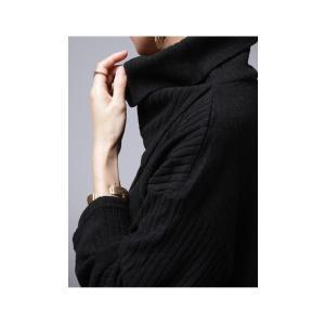 softな着心地が魅力的。オフタートルリブトップス・再再販。デザイン ワイド ##メール便不可|antiqua|09