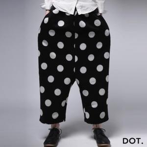 ボトムス パンツ 水玉 ドット モード ドットサルエルパンツ・11月30日20時〜発売。##メール便不可|antiqua