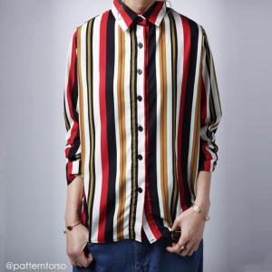 トップス シャツ ストライプ ベイクドカラー レジメンタルストライプシャツ・1月23日20時〜再販。「G」(50)メール便可|antiqua
