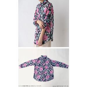 トップス シャツ 長袖 透け感 総柄 花柄シャツ・6月1日20時〜再再販。(30)メール便可|antiqua|05