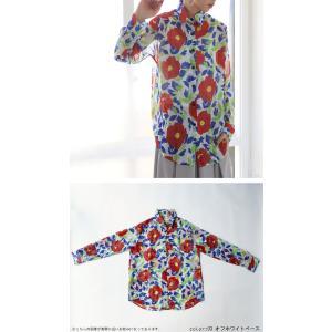 トップス シャツ 長袖 透け感 総柄 花柄シャツ・6月1日20時〜再再販。(30)メール便可|antiqua|09