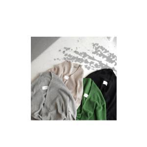 ナチュラル羽織りが必須。』畦編み2way綿ニットカーデ・2月9日20時〜再販。『欲張り大人女子は季節を超えてナチュラル羽織りが必須。』##メール便不可|antiqua|18