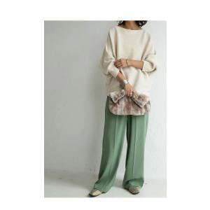 オフショルダー ニット トップス 綿 綿100 ニットドルマントップス 綿100%が新しい世界を開いてくれる。・再再販。##メール便不可|antiqua|18