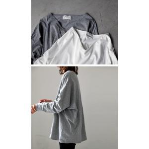 空気を纏うように、ゆるく。cottonドルマンロンT・2月12日20時〜再再販。直感で選びたい。ドルマンと綺麗Vネックで作る美差。「G」(100)メール便可|antiqua|03