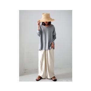 空気を纏うように、ゆるく。cottonドルマンロンT・2月12日20時〜再再販。直感で選びたい。ドルマンと綺麗Vネックで作る美差。「G」(100)メール便可|antiqua|04