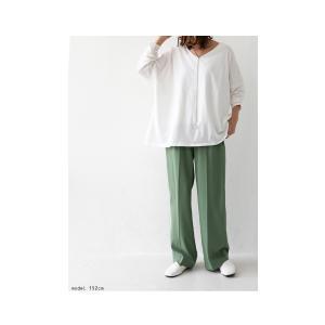 空気を纏うように、ゆるく。cottonドルマンロンT・2月12日20時〜再再販。直感で選びたい。ドルマンと綺麗Vネックで作る美差。「G」(100)メール便可|antiqua|10