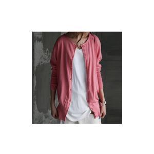 トップス 羽織り 綿 ニット 7分袖ver.ニットカーデ・6月1日20時〜再再販。「G」(100)メール便可|antiqua|15