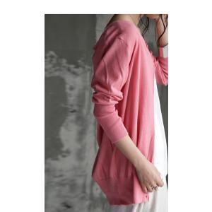 トップス 羽織り 綿 ニット 7分袖ver.ニットカーデ・6月1日20時〜再再販。「G」(100)メール便可|antiqua|16