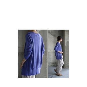 トップス 羽織り 綿 ニット 7分袖ver.ニットカーデ・6月1日20時〜再再販。「G」(100)メール便可|antiqua|19
