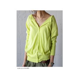 トップス 羽織り 綿 ニット 7分袖ver.ニットカーデ・6月1日20時〜再再販。「G」(100)メール便可|antiqua|03