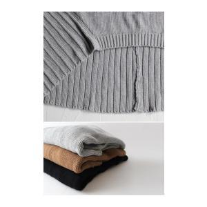 綿100% ざっくり リブ編み トップス 綿ニット・再再販。 「G」##メール便不可|antiqua|15