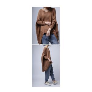 綿100% ざっくり リブ編み トップス 綿ニット・再再販。 「G」##メール便不可|antiqua|18