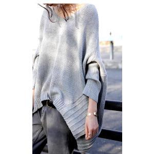 綿100% ざっくり リブ編み トップス 綿ニット・再再販。 「G」##メール便不可|antiqua|10