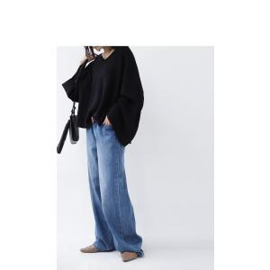 綿ニット ミラノリブ デザイン ミラノリブワイドニットトップス・2月13日20時〜再再販。「G」##メール便不可|antiqua|11