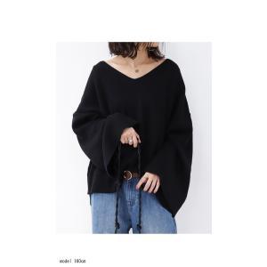 綿ニット ミラノリブ デザイン ミラノリブワイドニットトップス・2月13日20時〜再再販。「G」##メール便不可|antiqua|03