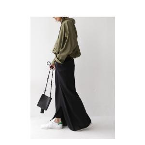 スカート モード ブラック 変形 綿 ミニ裏毛変形スカート・再再販。##「G」メール便不可|antiqua|12