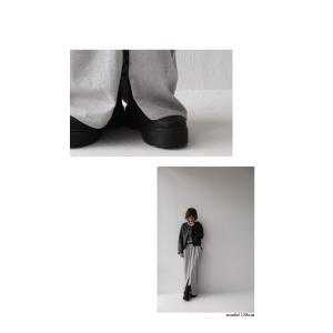 スカート モード ブラック 変形 綿 ミニ裏毛変形スカート・再再販。##「G」メール便不可|antiqua|13