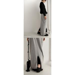 スカート モード ブラック 変形 綿 ミニ裏毛変形スカート・再再販。##「G」メール便不可|antiqua|14