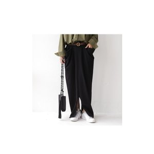 スカート モード ブラック 変形 綿 ミニ裏毛変形スカート・再再販。##「G」メール便不可|antiqua|05