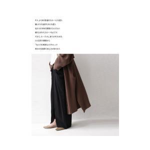 スカート モード ブラック 変形 綿 ミニ裏毛変形スカート・再再販。##「G」メール便不可|antiqua|10