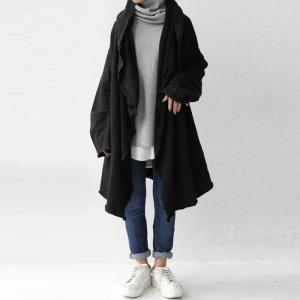 羽織り コート アウター 綿 オリジナル 裏毛フード付き羽織り・再再販。メール便不可