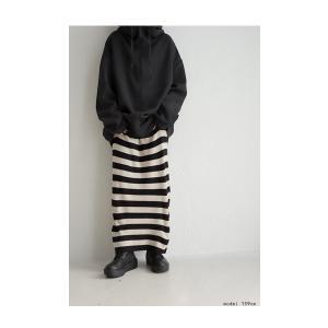 ボトムス スカート ロング レディース ニット ロング ボーダーIラインスカート・##メール便不可|antiqua|05
