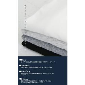 トップス カットソー 8分袖 裏起毛 暖 メロー8分袖T・(50)メール便可 antiqua 15