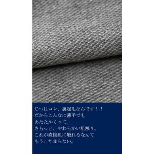 トップス カットソー 8分袖 裏起毛 暖 メロー8分袖T・(50)メール便可 antiqua 08
