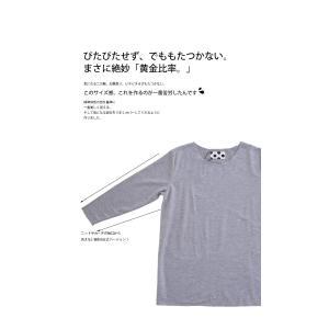 トップス カットソー 8分袖 裏起毛 暖 メロー8分袖T・(50)メール便可 antiqua 09