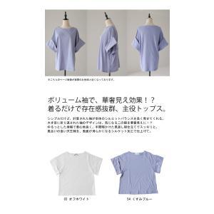 トップス プルオーバー 五分袖 七分袖 綿 綿100% 袖デザイントップス・(80)◎メール便可|antiqua|02