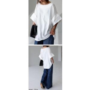 トップス プルオーバー 五分袖 七分袖 綿 綿100% 袖デザイントップス・(80)◎メール便可|antiqua|08
