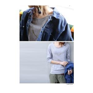 トップス 七分袖 メロー Tシャツ インナー カットソー 七分袖メローT・(50)メール便可|antiqua|16