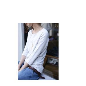 トップス 七分袖 メロー Tシャツ インナー カットソー 七分袖メローT・(50)メール便可|antiqua|10