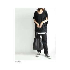 トップス カットソー 半袖 Tシャツ ワイド VネックT・5月25日20時〜発売。(100)メール便可|antiqua|12