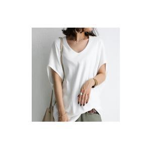 トップス カットソー 半袖 Tシャツ ワイド VネックT・5月25日20時〜発売。(100)メール便可|antiqua|16