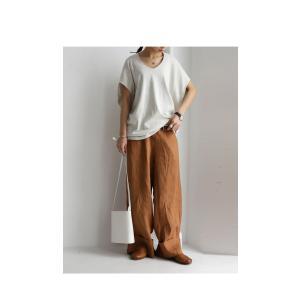 トップス カットソー 半袖 Tシャツ ワイド VネックT・5月25日20時〜発売。(100)メール便可|antiqua|20