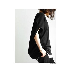 トップス カットソー 半袖 Tシャツ ワイド VネックT・5月25日20時〜発売。(100)メール便可|antiqua|03