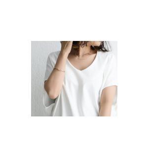 トップス カットソー 半袖 Tシャツ ワイド VネックT・5月25日20時〜発売。(100)メール便可|antiqua|05