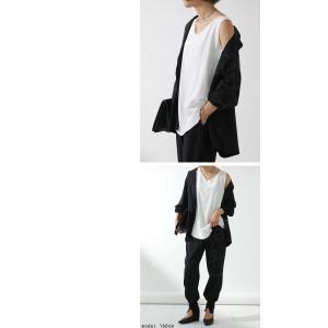 タンクトップ レディース  トップス ノースリーブ インナー 綿 ゆったり スラブメロータンクトップス ・2月22日20時〜発売。30ptメール便可|antiqua|13