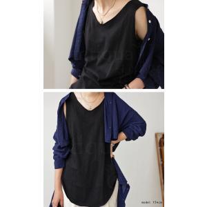 タンクトップ レディース  トップス ノースリーブ インナー 綿 ゆったり スラブメロータンクトップス ・2月22日20時〜発売。30ptメール便可|antiqua|14