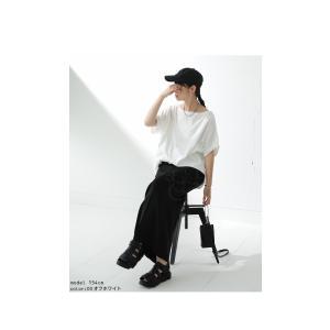 ドルマンTシャツ 半袖 トップス レディース 五分丈 無地 大きいサイズ ゆったり カットソー・2月26日20時〜発売。50ptメール便可|antiqua|13