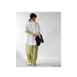 ドルマンTシャツ 半袖 トップス レディース 五分丈 無地 大きいサイズ ゆったり カットソー・2月26日20時〜発売。50ptメール便可|antiqua|15